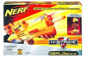NERF DEPLOY CS-6 N STRIKE DART GUN BLASTER WITH LIGHT