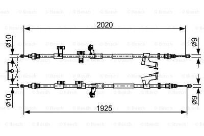 BOSCH Bremsseil Seilzug Feststellbremse 1 987 482 709 für DM2 KUGA FORD mitte 2
