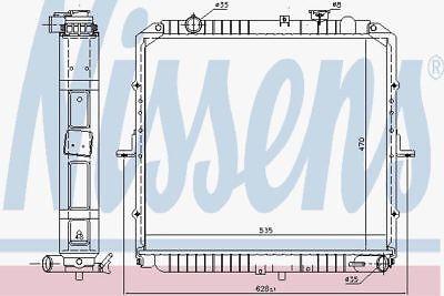 Nissens 66622 Kühler Passt Kia Savana (Savana Mall)