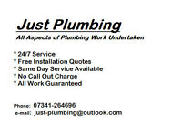 *Just Plumbing* - Local Plumber - Plumbing - Heating - Bathrooms - Showers - Drainage