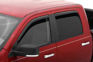 AVS 194536 - 2014 GMC Sierra Full Set In-Channel Ventvisor Deflectors 4 Pcs
