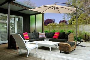 Grey Milano Outdoor Umbrella Sandringham Rockdale Area Preview