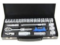 "US PRO Tools 24pc 3/8"" dr Extendable Socket Set With Spark Plug Sockets NEW"