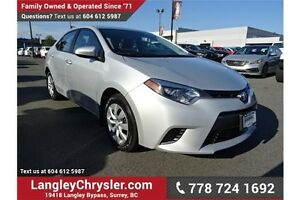 2015 Toyota Corolla LE w/Power Group & Touchscreen Media