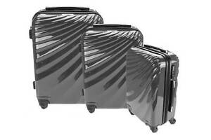 Orbis 3 Piece Deluxe UltraTough Spinner Luggage Set (Charcoal Gre Point Cook Wyndham Area Preview