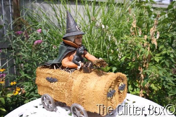 Retired Bethany Lowe Witch In A Sponge Car Large Halloween Decoration # TD4032