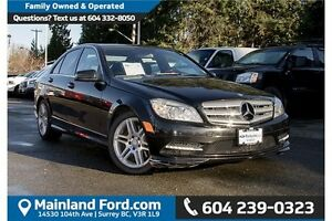2011 Mercedes-Benz C-Class LOW KM'S LEATHER, NAVIGATION