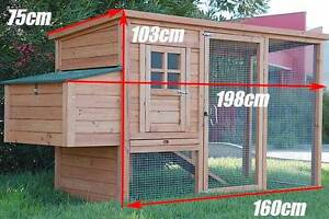Brand New Chicken Coop Rabbit Hutch Ferret Cage Hen Chook House Mordialloc Kingston Area Preview