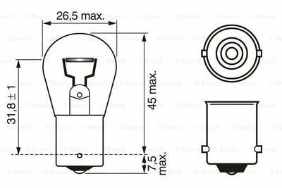 BOSCH 1 987 302 280 Glühlampe Bremsleuchte vorne für VW FORD RENAULT
