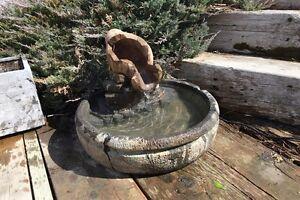 Water fountain patio