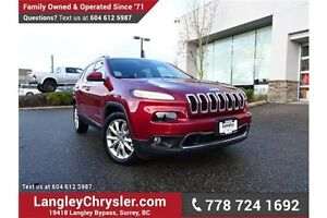2016 Jeep Cherokee Limited LOW KMS, LOCALLY DRIVEN & ACCIDENT...