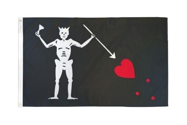 Edward Teach Pirate Flag 3x5ft Polyester