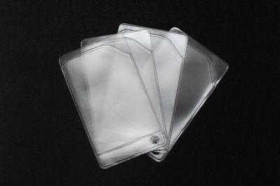 Flexible vinyl card holder sleeve, clear credit card protector, - 10 sleeves