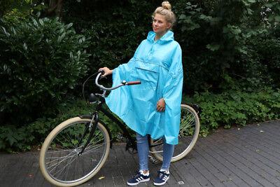 Fahrrad Regencape Regenjacke Türkis Blau Unisex NEU!!!