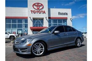 2013 Mercedes-Benz C-Class 4Matic+Leather+Sunroof+Navigation
