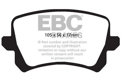 EBC Greenstuff Rear Brake Pads for Audi Q3 1.4 Turbo (150 BHP) (2014 > 15)