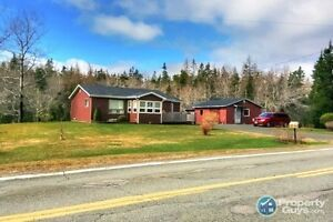Isaac's Harbour gem on 2 ac with fish pond!