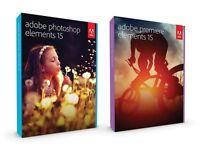 Adobe Photoshop Elements & Premiere Elements 15 Full Version PC/Mac Brand New