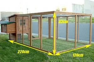 2.2M Chicken Coop with Nesting Box and Run CH007+RUN Dandenong South Greater Dandenong Preview
