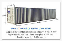 40 foot shipping/sea container - good condition