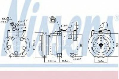 New Compressor air conditioning for FORD-MAZDA 890059 Nissens Top Quality