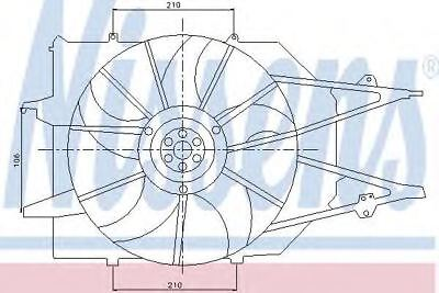 New Fan radiator for FORD 85213 Nissens Top Quality