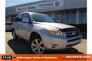 2007 Toyota RAV4 Limited Local Trade-in with PST Paid!