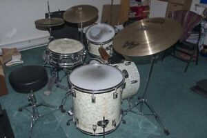 Vintage Rogers drum kit for sale.