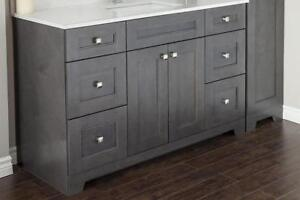 MAPLE WOOD  VANITIES   ONE TIME INVESTMENT  3/4 PLYWOOD DRAWERS  FRAMELESS  9 COLORS