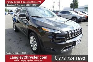 2015 Jeep Cherokee Limited w/Navigation, Leather Int. & Sunroof