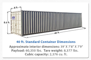 40 foot storage container for rent