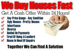 We Pay All Cash For Houses! Quick Closes!