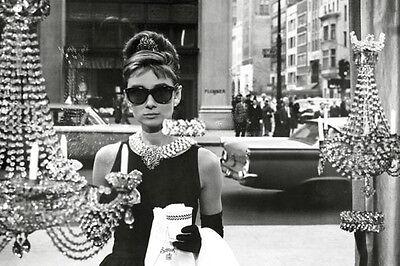 Audrey Hepburn Window Poster! Beauty Breakfast at Tiffany's Black and white NYC  (Audrey Hepburn Breakfast)
