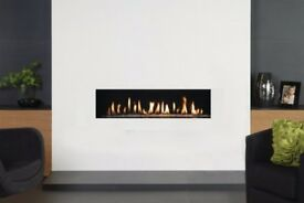 Senso Fireplaces Frameless 1000mm wide open fronted gas fire brand new