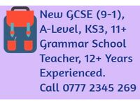 GCSE and A Level Maths Private Tutor, Grammar School teacher, 12+ years experience