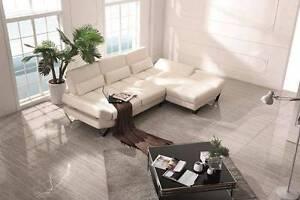 Brand NEW Ashley Cowhide Top Grain Leather Sofa Lounge Suite YFF Auburn Auburn Area Preview