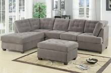 Brand New Waffle Suede 5 Seat Chaise Sofa $1199 with FREE ottoman Bayswater Bayswater Area Preview