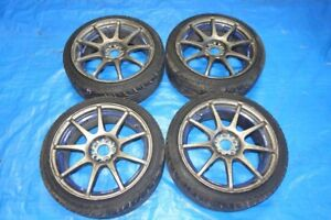 JDM WedsSport SA70 Racing Rims Wheels Mags 5x100 17x7.5 +45 SA-7
