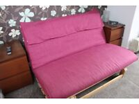 **REDUCED** SOFA BED/FUTON TYPE - PINK - Excellent Condition