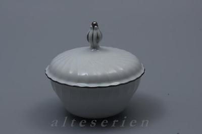 Zuckerdose H 10,5 cm Royal Tettau Annette Platinrand - Platin 10.5