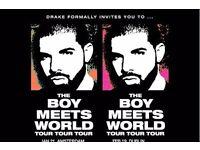 2 x Drake Boy Meets World Tickets, 5th Feb @ London 02