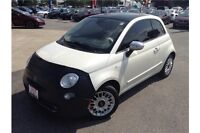 2012 FIAT 500 LOUNGE - LEATHER - SUNROOF - MANUAL - TINTED