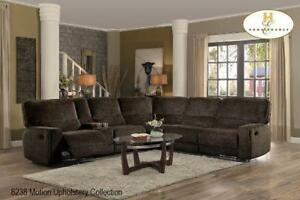 Brown Fabric Sectional Recliner (BD-2420)