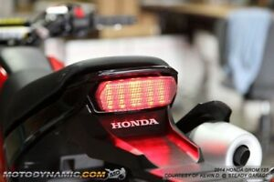 2014-2018 Honda Grom 125 Sequential LED Tail Lights Smoke