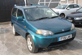 2001 51 HONDA HRV **VERY LOW MILEAGE** DRIVES BEAUTIFUL , VERY CLEAN CAR, LONG MOT £750