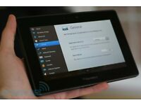 Blackberry Playbook 16gb Tablet with lots of cases