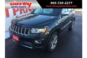 2016 Jeep Grand Cherokee Limited 4X4, NAVIGATION, SUNROOF