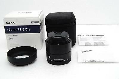 SIGMA Single Focus Standard Lens Art 19mm F2.8 DN Black for Sony E Mount New