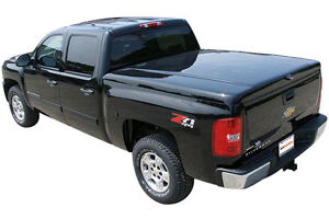 GMC Sierra BLACK Truck Bed Cover / Tunnel Cover