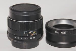 $60/each Manual lens + adapter for Sony E-mount camera
